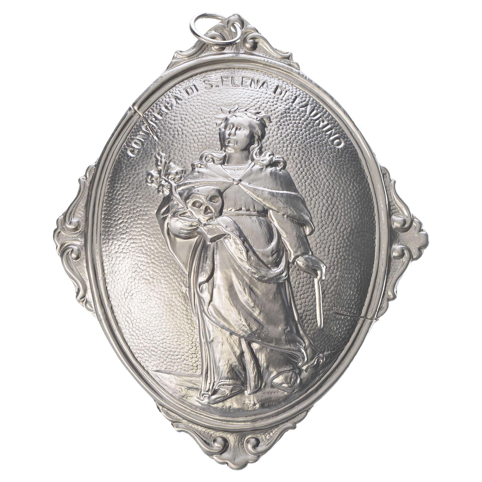 Médaillon de confrérie Sainte Hélène de Laurino laiton 3