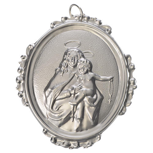 Confraternity Medal in brass, Our Lady of the Rosary 1