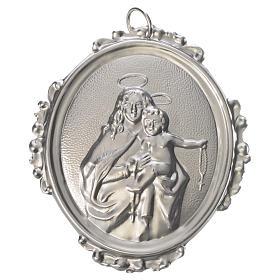 Medaglioni per confraternite: Medaglione confraternita Madonna del Rosario ottone