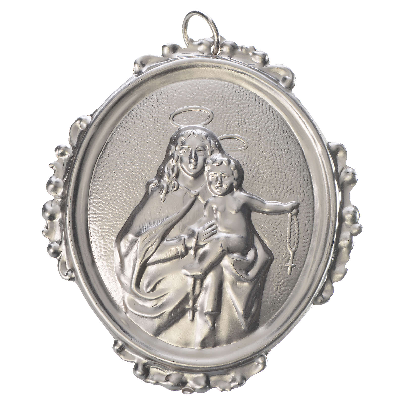 Confraternity Medal in brass, Our Lady of the Rosary 3