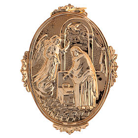 Confraternity Medal in brass, Annunciation scene s2