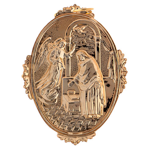 Confraternity Medal in brass, Annunciation scene 2