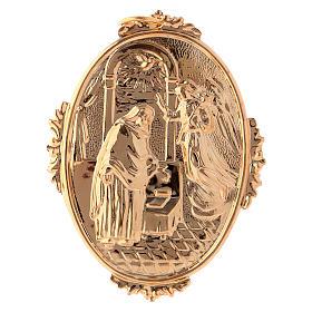 Médailles confréries et associations: Médaillon de confrérie Annonciation laiton