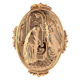 Confraternity Medal in brass, Annunciation scene s1