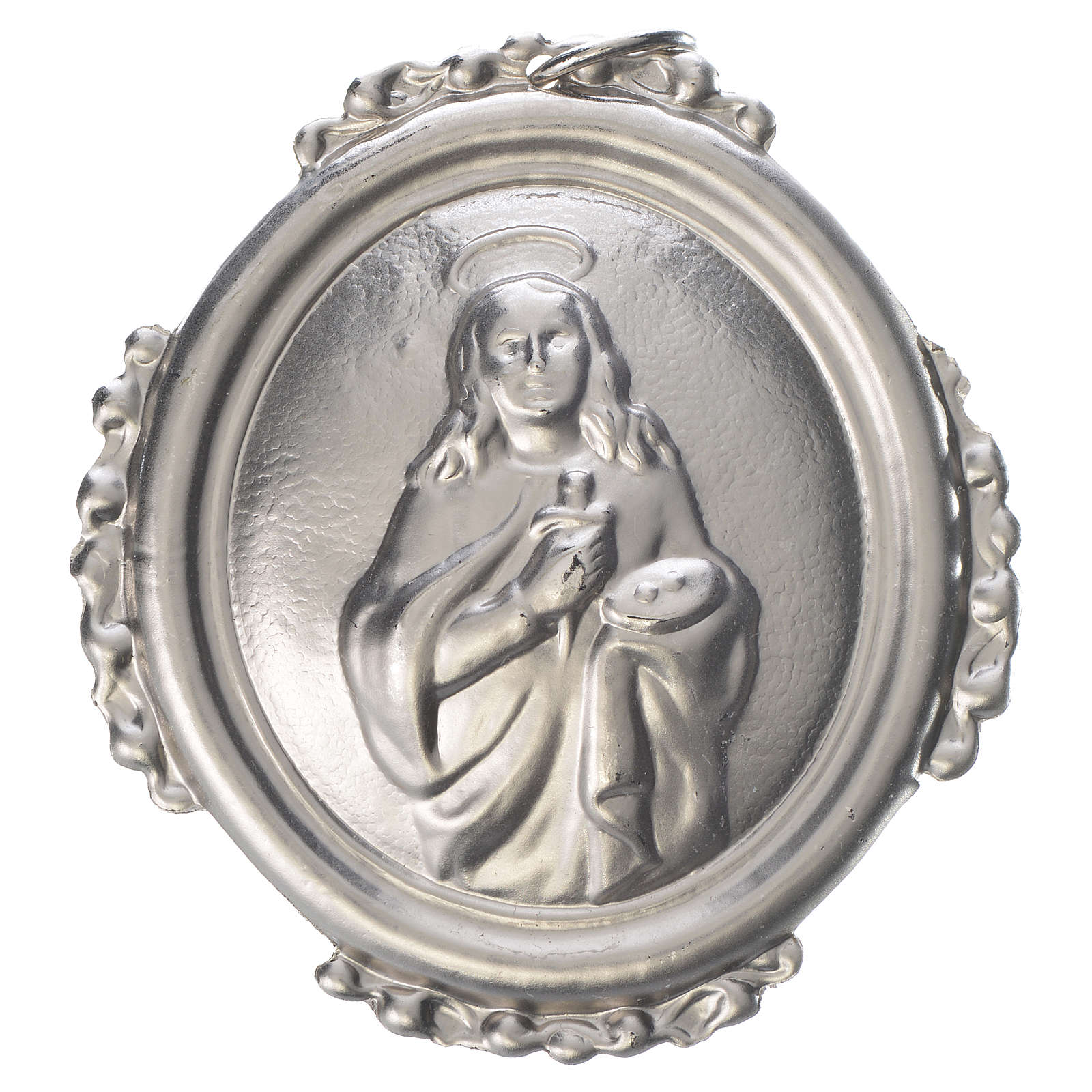 Confraternity Medal in brass, Saint Lucy 3