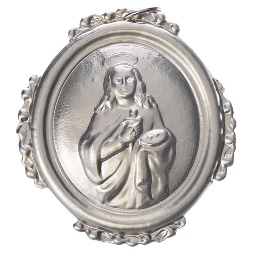 Confraternity Medal in brass, Saint Lucy 1