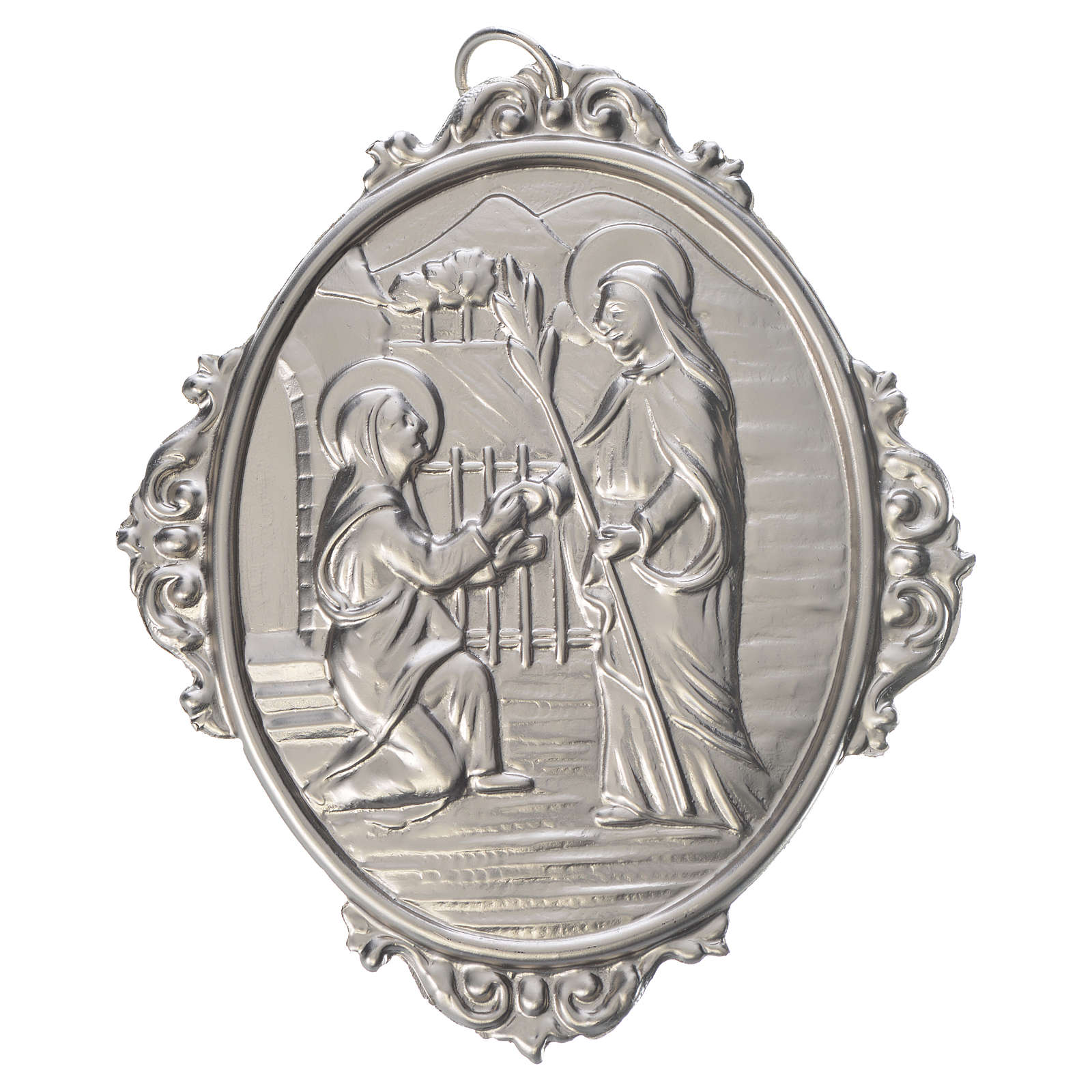 Medaglione confraternita Visita Madonna a S. Elisabetta 3