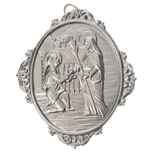 Medaglione confraternita Visita Madonna a S. Elisabetta 1