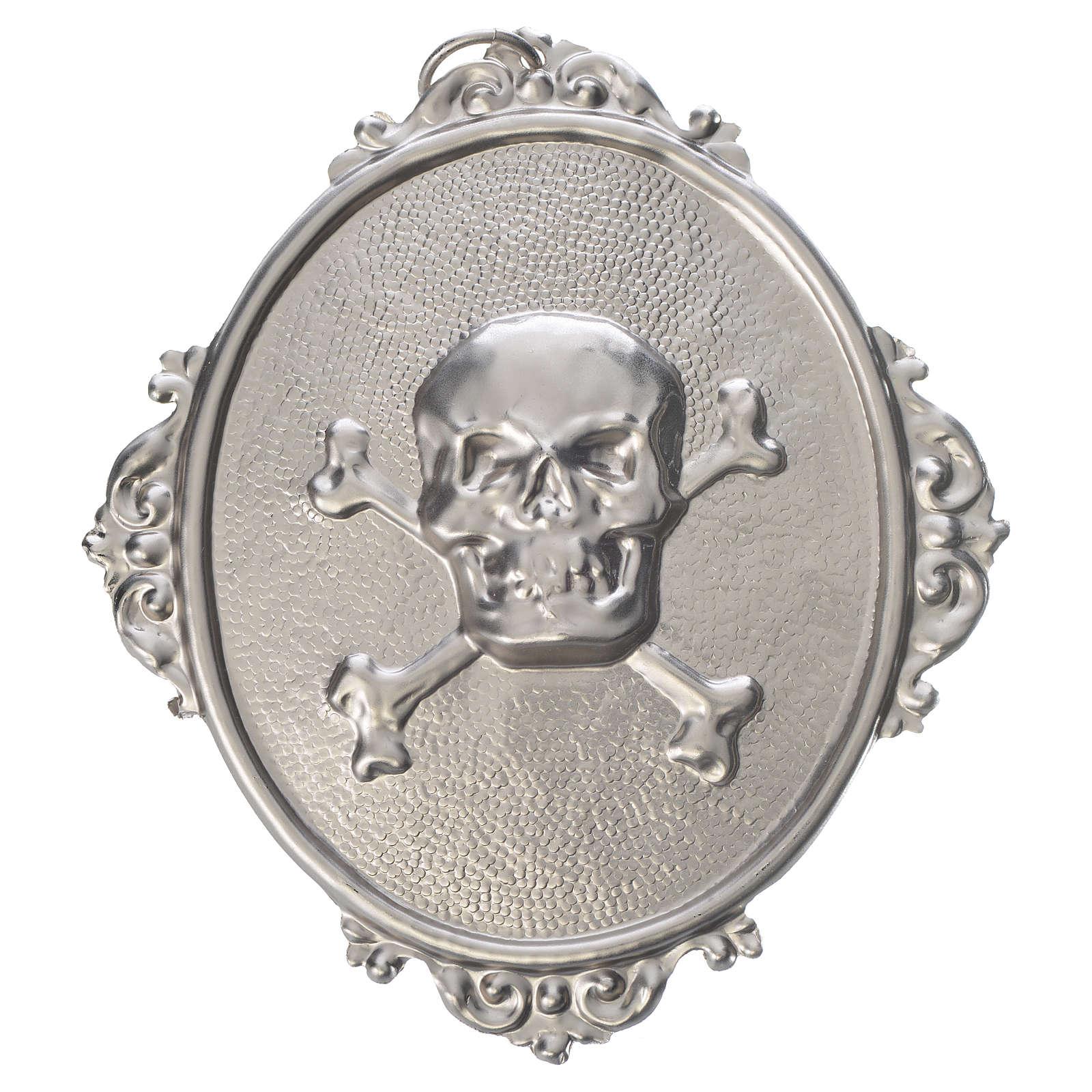 Confraternity Medal in brass, Skull 3