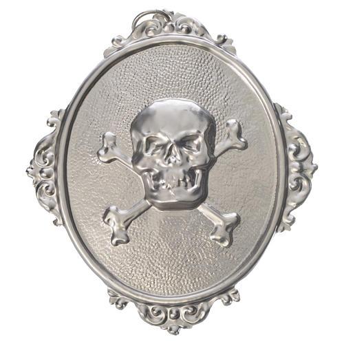 Medalla cofradía Calavera latón 1