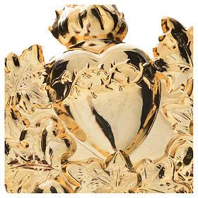 Medaglione confraternita Sacro Cuore con ghirlanda s2