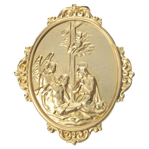 Confraternity Medal in brass, Deposition scene 1