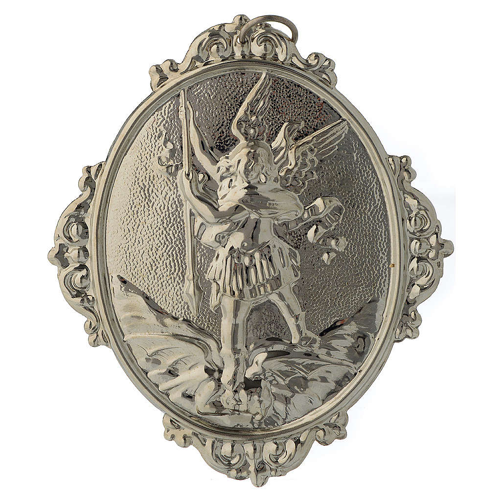 Confraternity Medal in brass, Saint Michael 3