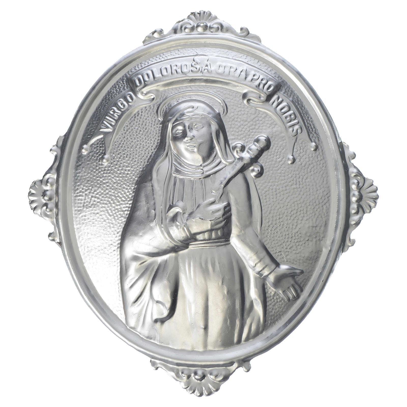 Medalla cofradía Nuestra Señora de los Dolores latón 3