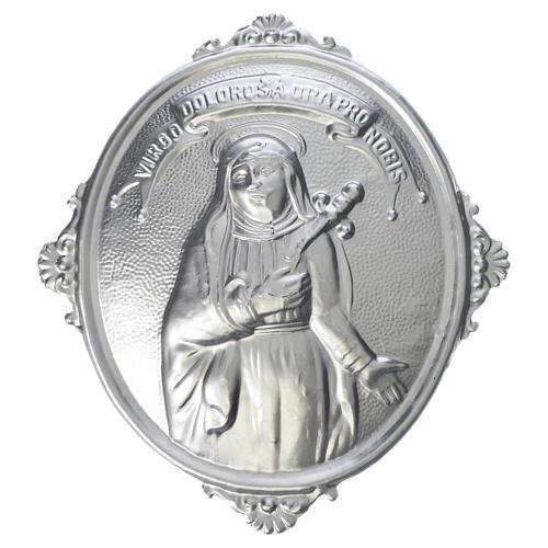Medaglione confraternite Addolorata ottone