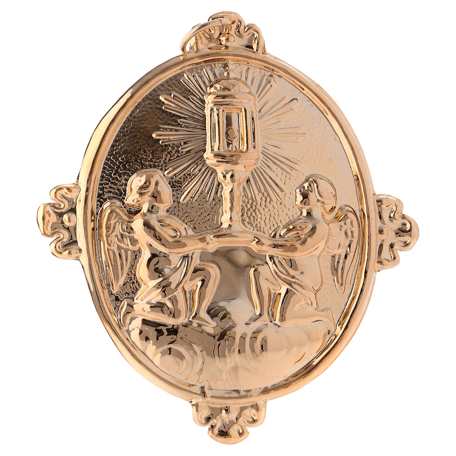 Confraternity Medal in brass, Blessed Sacrament Ambrosian Monstrance 3
