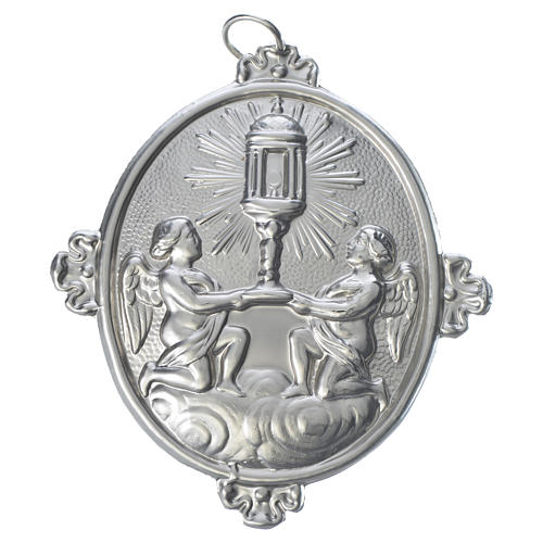 Confraternity Medal in brass, Blessed Sacrament Ambrosian Monstr 1