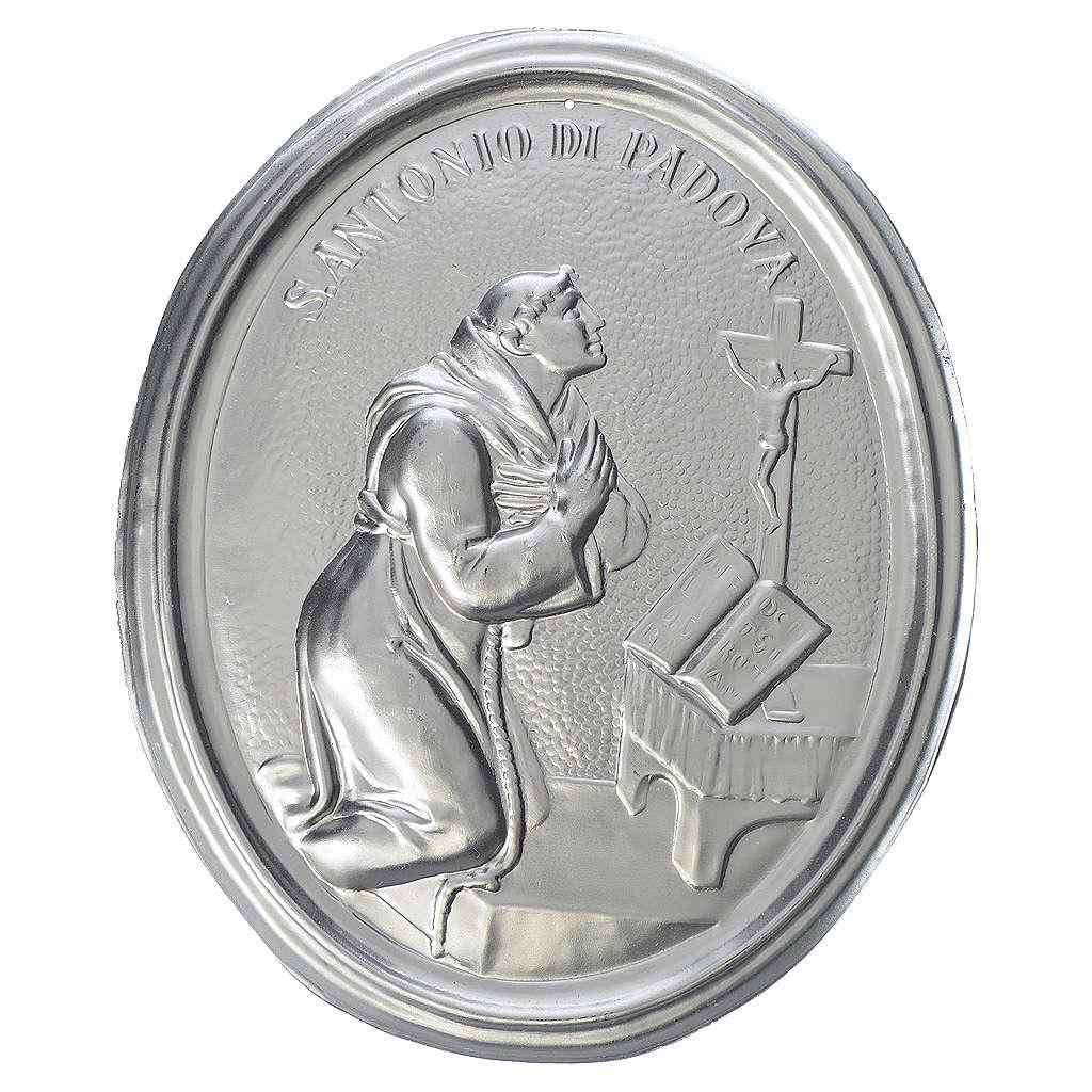 Medalla cofradía S. Antonio de Padua latón 3