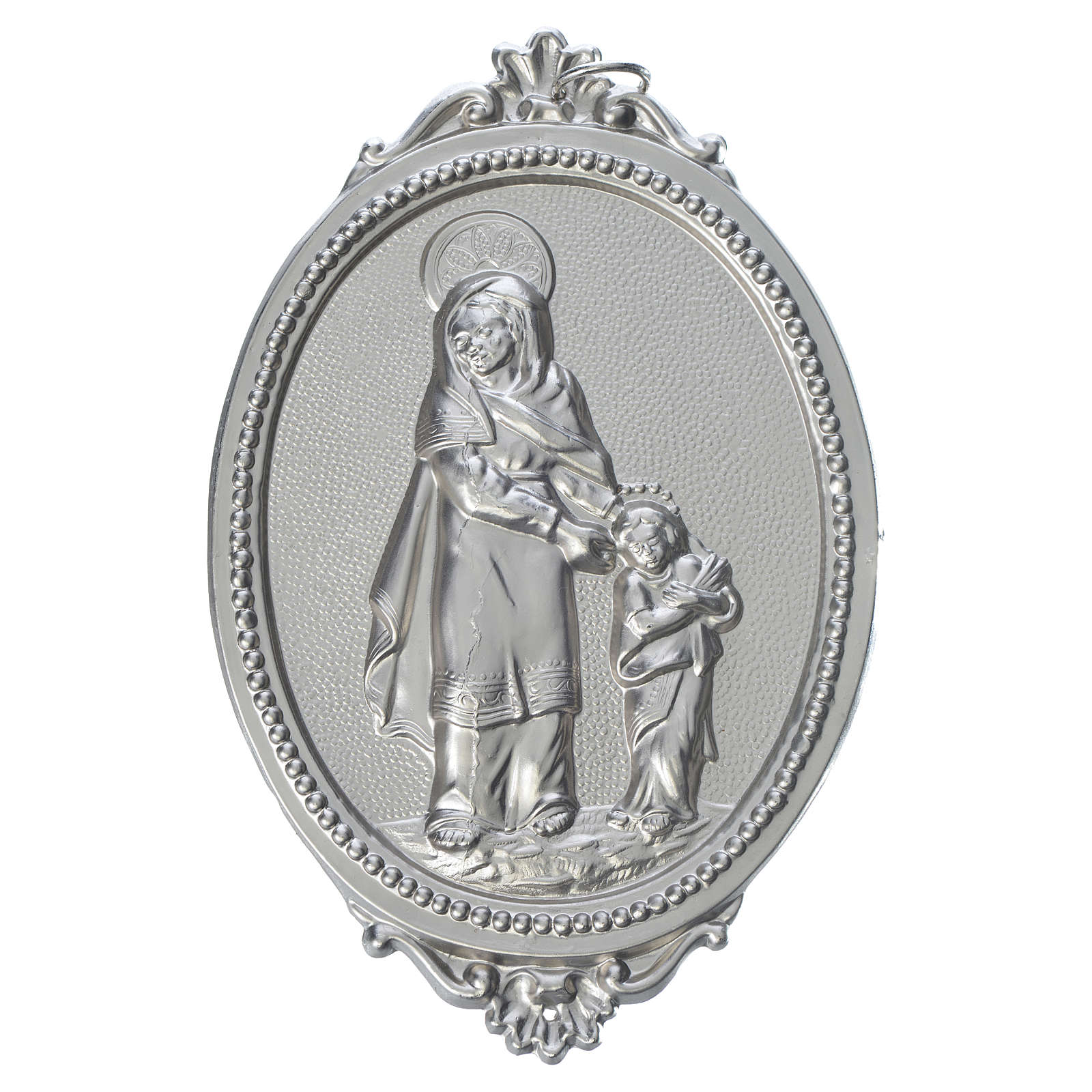 Confraternity Medal in brass, Saint Anne 3