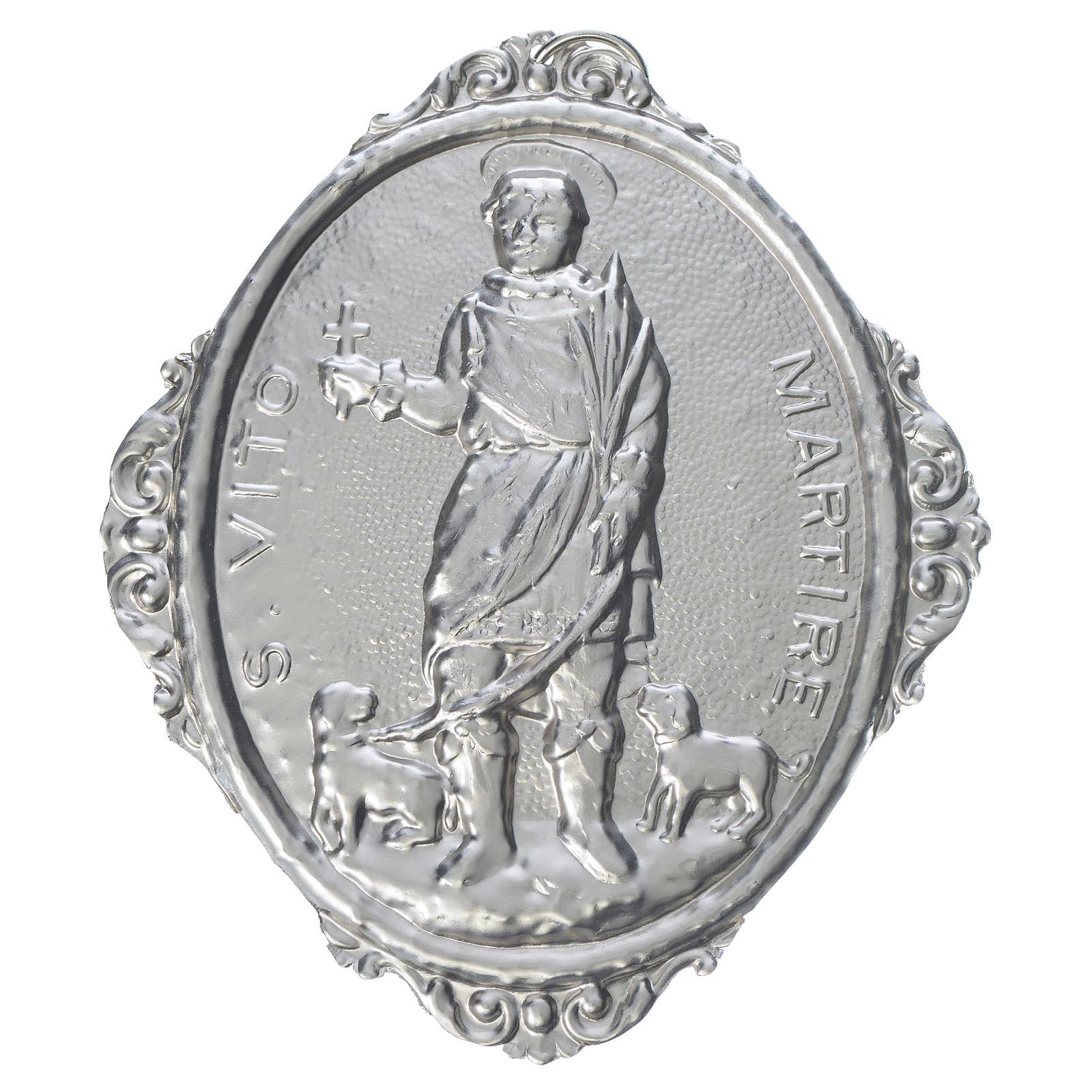 Medaglione confraternita S. Vito Martire ottone 3