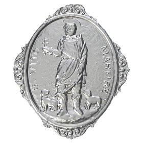 Medaglione confraternita S. Vito Martire ottone s1