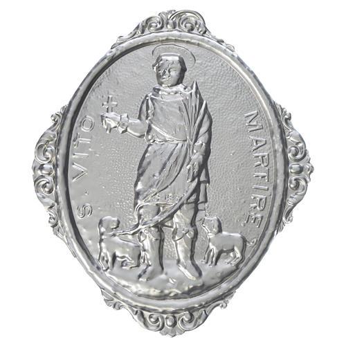 Medaglione confraternita S. Vito Martire ottone 1