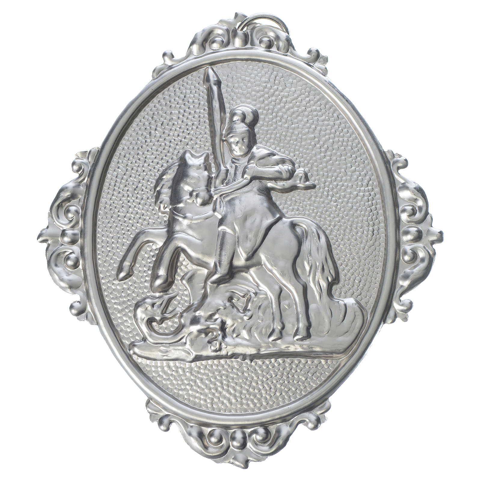 Medalla cofradía San Jorge latón 3