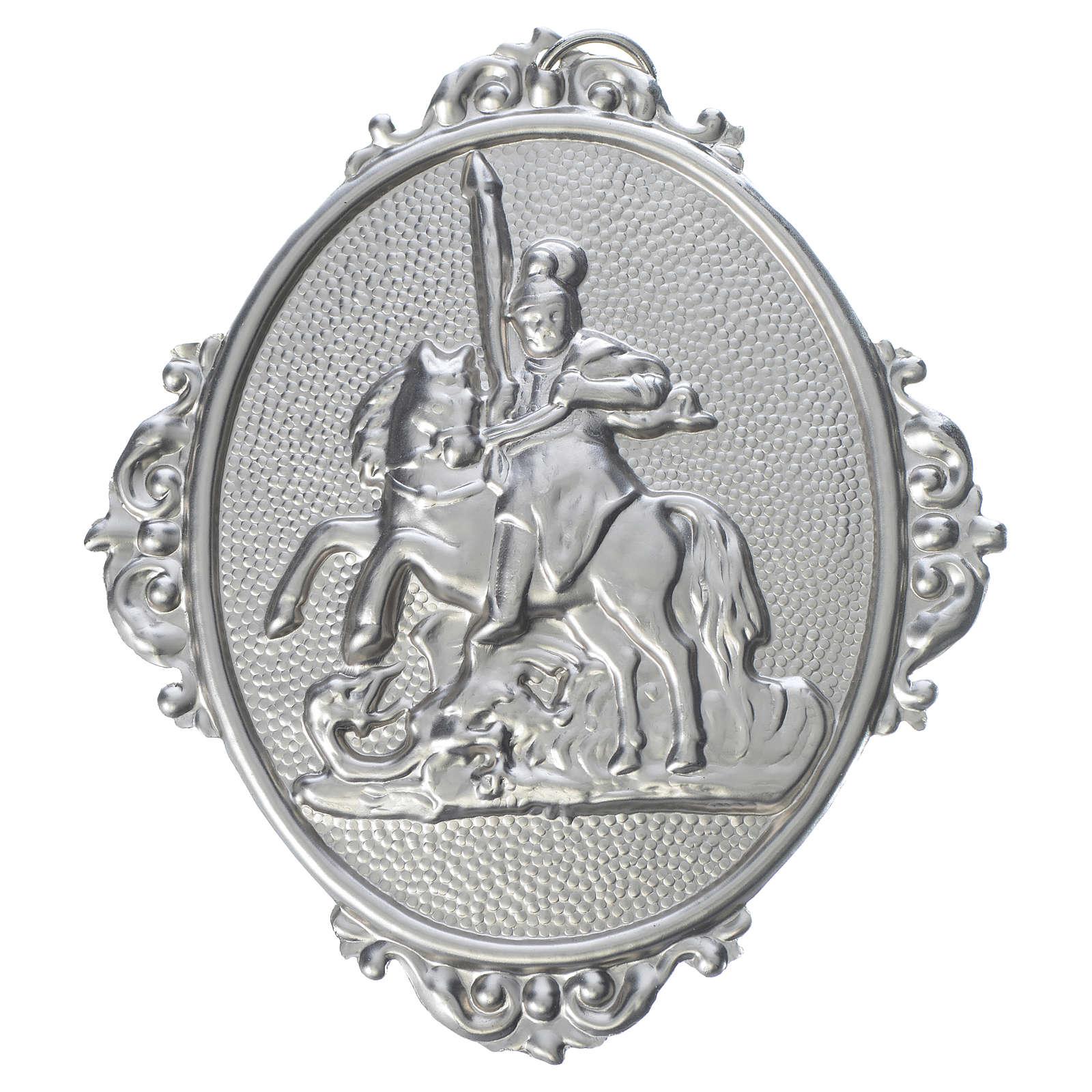 Medaglione confraternita San Giorgio ottone 3