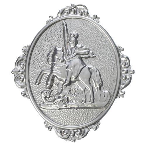 Medaglione confraternita San Giorgio ottone 1