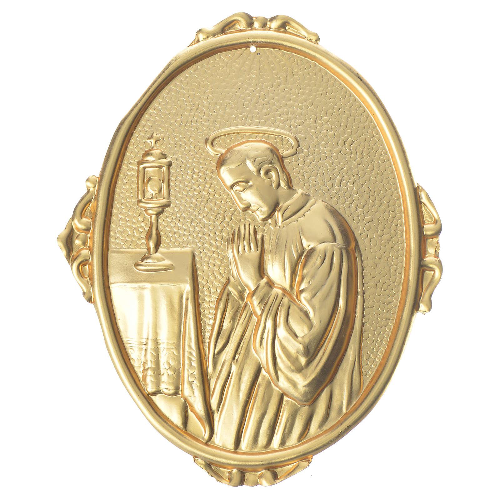 Confraternity Medal in brass, Saint Luigi 3