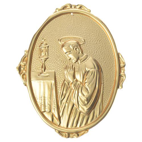 Medaglione confraternite S. Luigi ottone 1