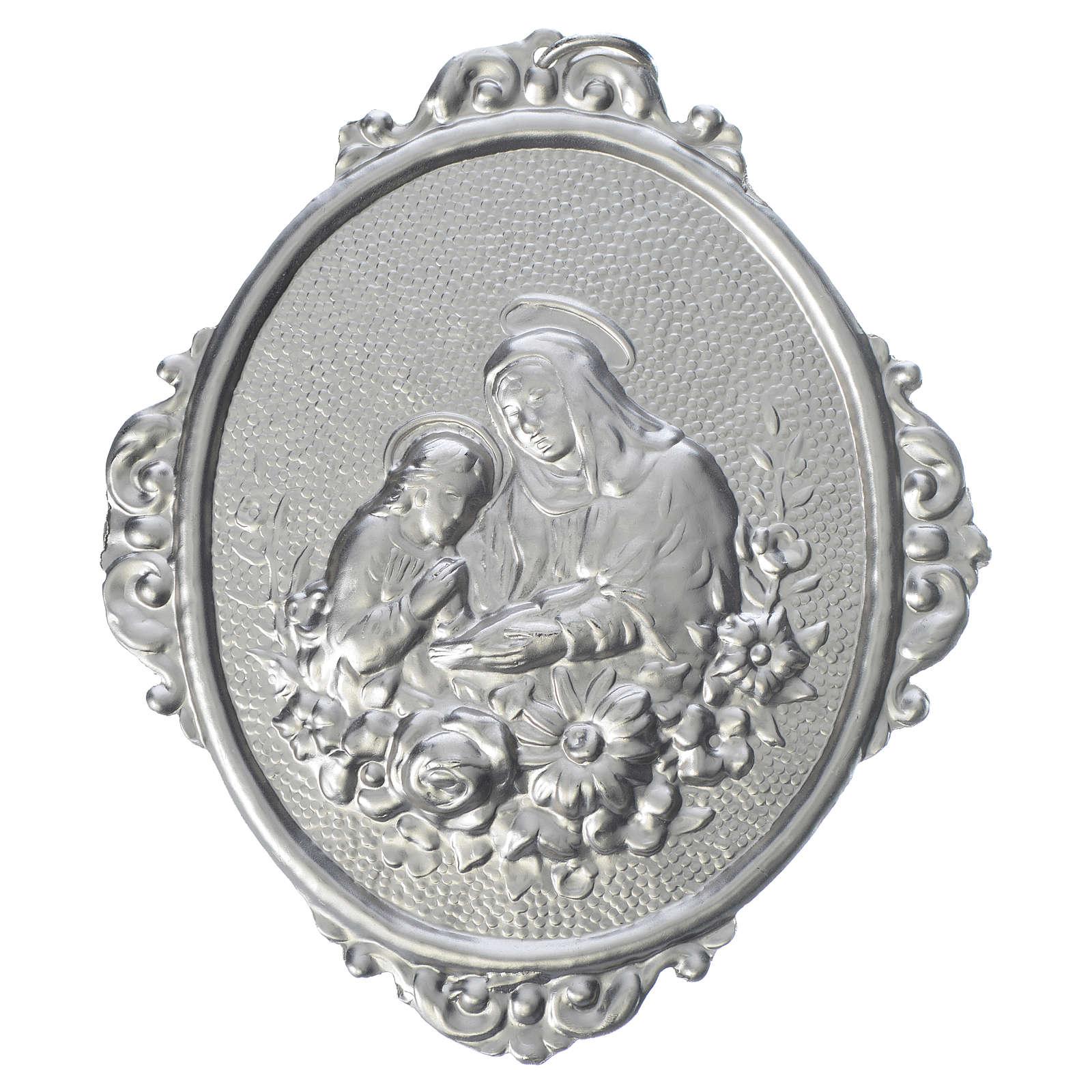 Medaglione confraternite Sant'Anna con fiori 3