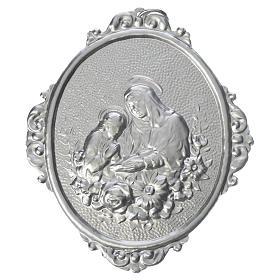 Medaglione confraternite Sant'Anna con fiori s1