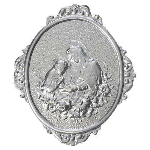 Medaglione confraternite Sant'Anna con fiori 1