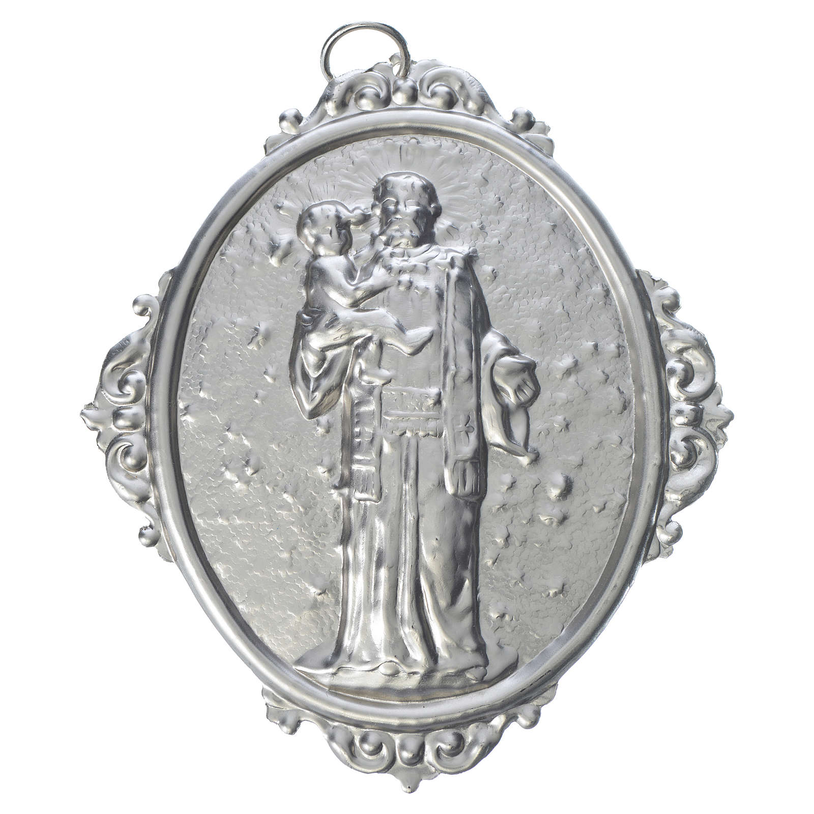 Confraternity Medal in brass, Saint Anthony with Jesus 3