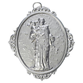 Confraternity Medal in brass, Saint Anthony with Jesus s1