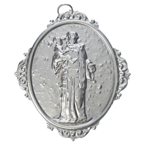 Confraternity Medal in brass, Saint Anthony with Jesus 1