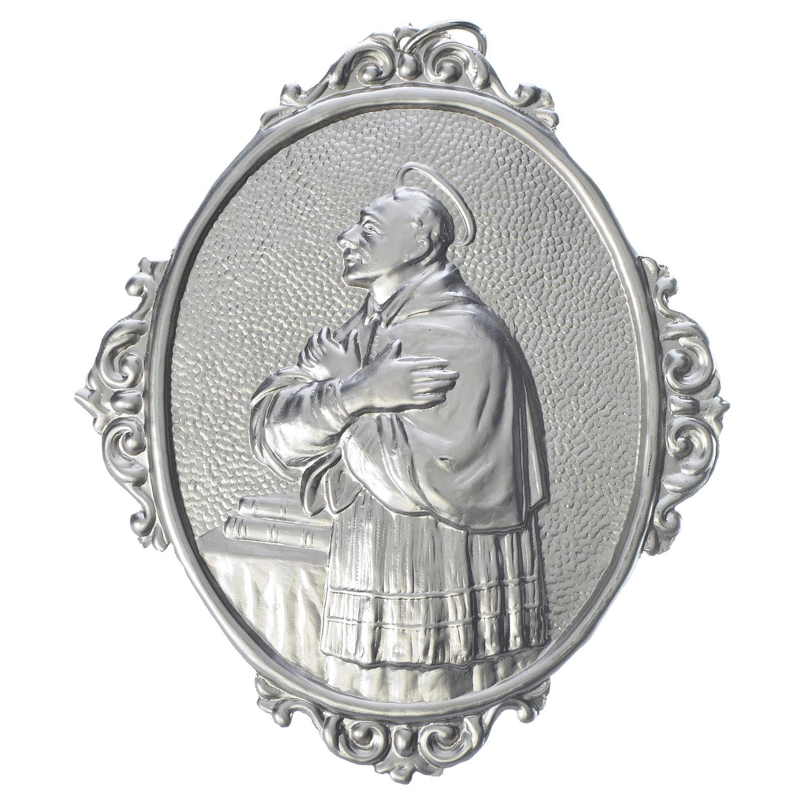 Confraternity Medal in brass, Saint Charles Borromeo 3