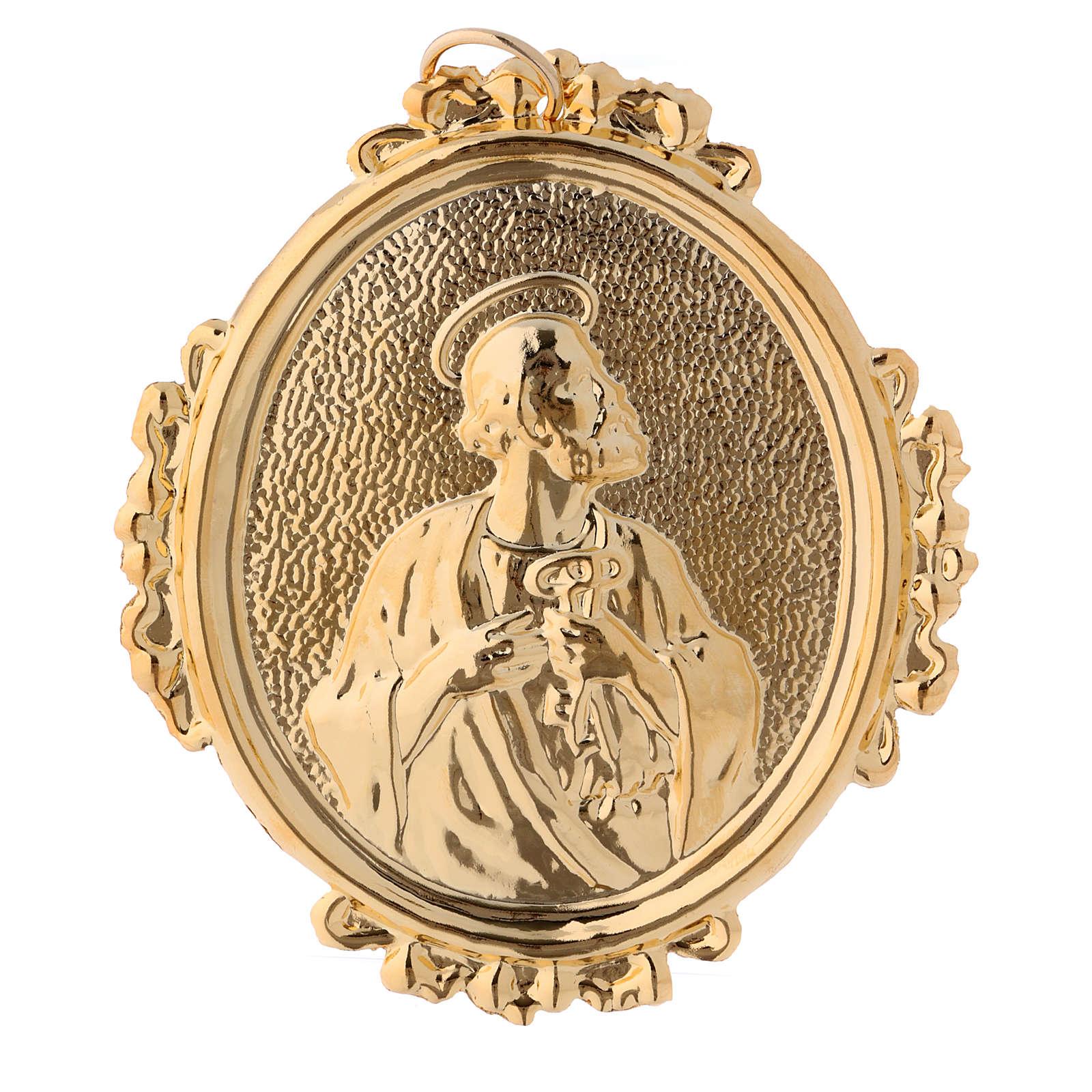 Medalla cofradía San Pedro latón 3