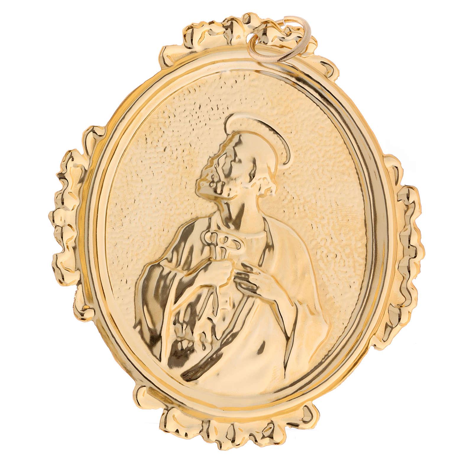 Medaglione confraternite San Pietro ottone 3