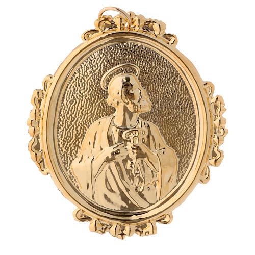 Medaglione confraternite San Pietro ottone 1