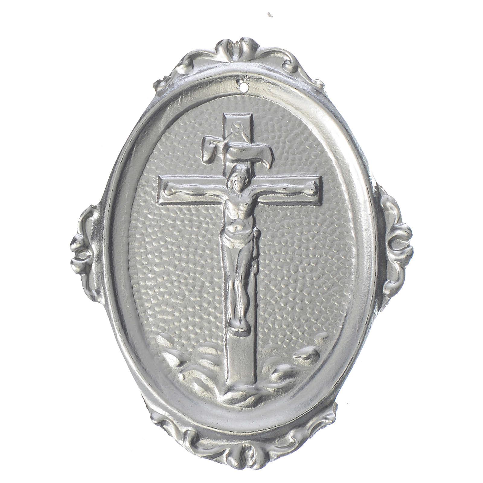 Medaglione confraternite Crocifisso ottone 3