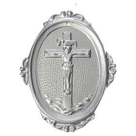 Medaglione confraternite Crocifisso ottone s1