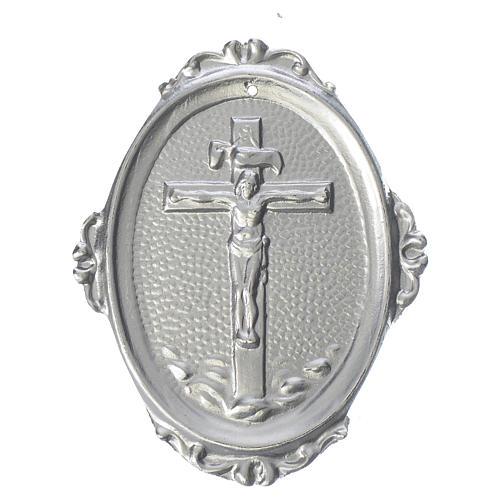 Medaglione confraternite Crocifisso ottone 1