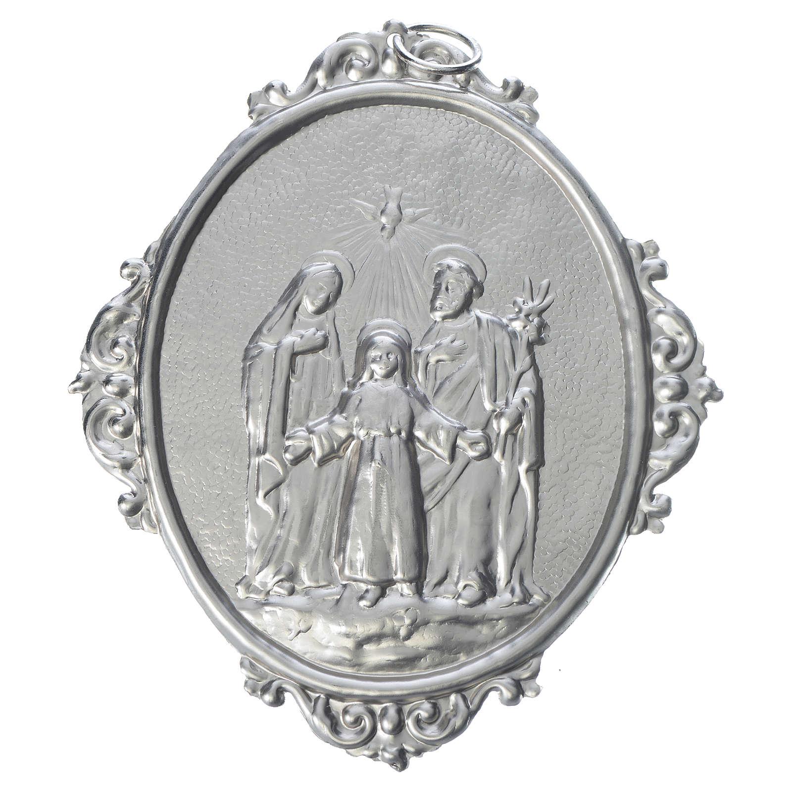 Medalla cofradía Sagrada Familia latón 3