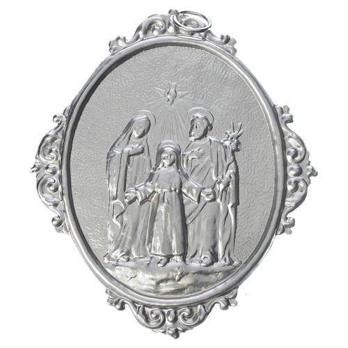 Medalla cofradía Sagrada Familia latón 1