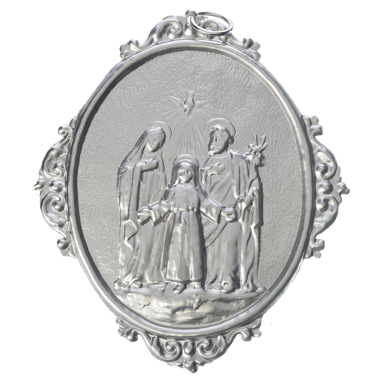 Medaglione Confraternite Sacra Famiglia ottone 3