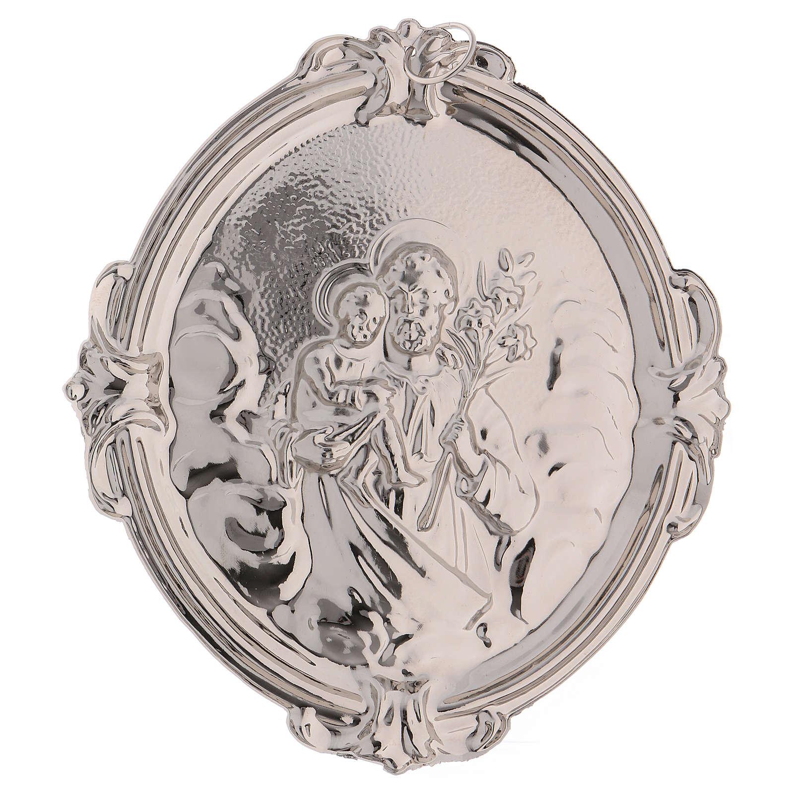 Medaglione confraternita immagine San Giuseppe 3
