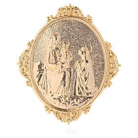 Médailles confréries et associations: Médaille confrérie laiton Vierge à l'Enfant