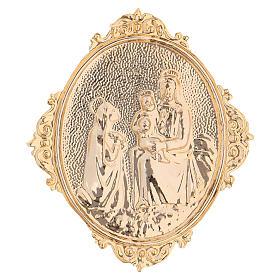Medaglione confraternite Madonna con bambino ottone s2